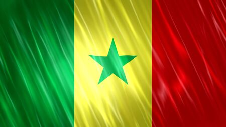 Senegal Flag with fabric material.