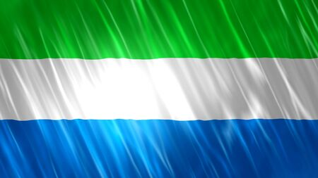 Sierra Leone Flag with fabric material.