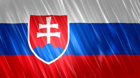 Slovakia Flag with fabric material.