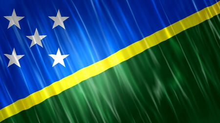 Solomon Islands Flag with fabric material.