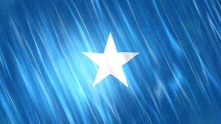 Somalia Flag with fabric material. Zdjęcie Seryjne