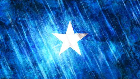 Somalia Flag with grunge texture. Zdjęcie Seryjne