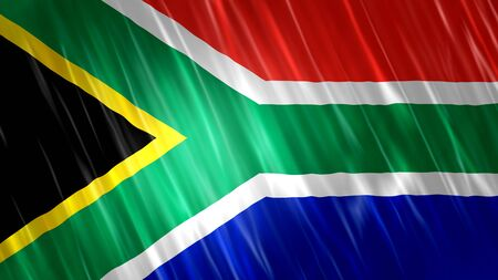 South Africa Flag with fabric material.