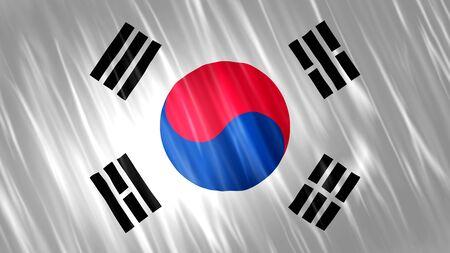 South Korea Flag with fabric material. Zdjęcie Seryjne