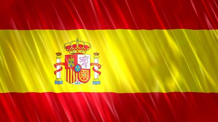 Spain Flag with fabric material.