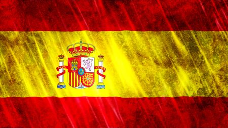 Spain Flag with grunge texture.