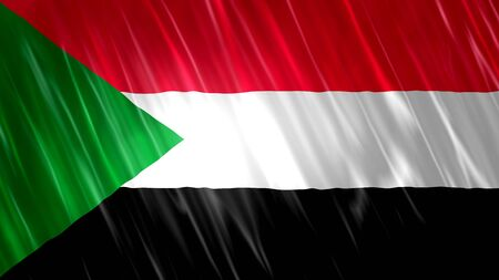 Sudan Flag with fabric material.