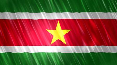 Suriname Flag with fabric material. Zdjęcie Seryjne