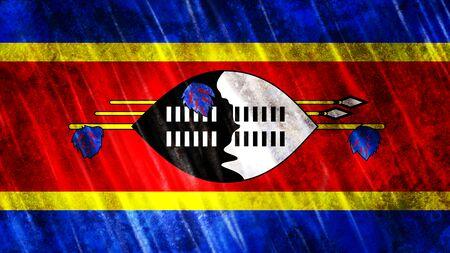 Swaziland Flag with grunge texture. Zdjęcie Seryjne