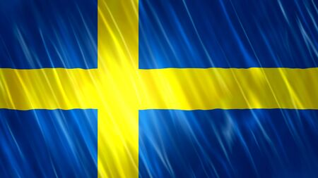 Sweden Flag with fabric material.Format