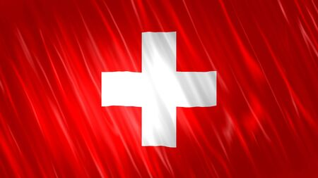 Switzerland Flag with fabric material.