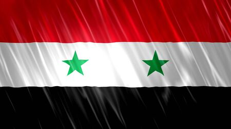 Syria Flag with fabric material. Zdjęcie Seryjne