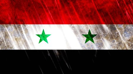 Syria Flag with grunge texture.