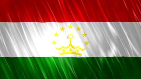 Tajikistan Flag with fabric material.