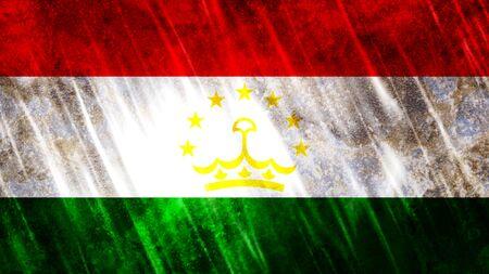Tajikistan Flag with grunge texture. Zdjęcie Seryjne