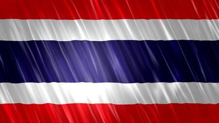 Thailand Flag with fabric material. Zdjęcie Seryjne