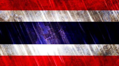 Thailand Flag with grunge texture.