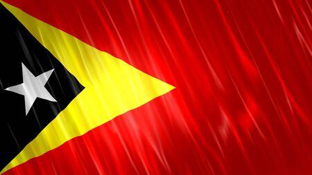Timor-Leste (East Timor) Flag with fabric material. Zdjęcie Seryjne