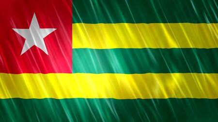 Togo Flag with fabric material.