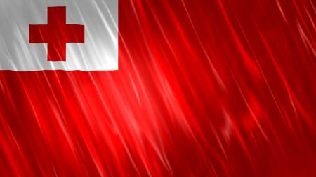 Tonga Flag with fabric material.