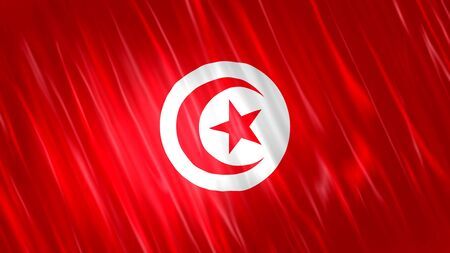 Tunisia Flag with fabric material.