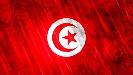 Tunisia Flag with grunge texture. Zdjęcie Seryjne