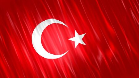 Turkey Flag with fabric material.