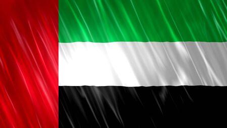 United Arab Emirates (UAE) Flag with fabric material. Zdjęcie Seryjne