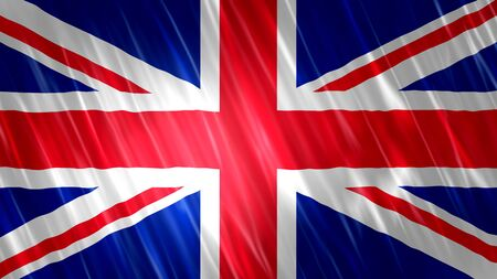 United Kingdom (UK) Flag with fabric material.