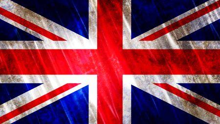 United Kingdom (UK) Flag with grunge texture.