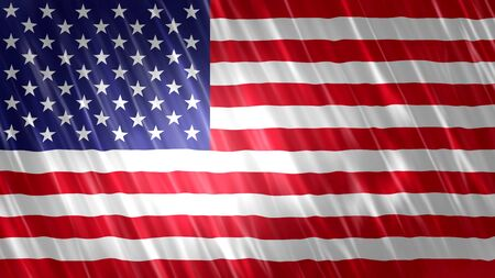 United States of America (USA) Flag with fabric material.