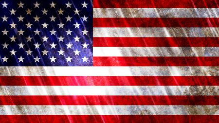 United States of America (USA) Flag with grunge texture.