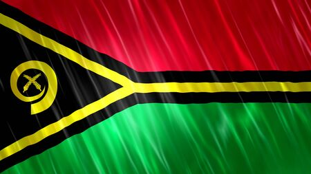 Vanuatu Flag with fabric material. Zdjęcie Seryjne