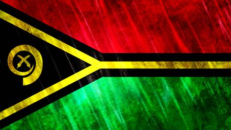 Vanuatu Flag with grunge texture. Zdjęcie Seryjne
