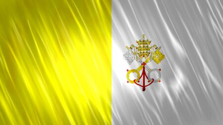Vatican City Flag with fabric material.