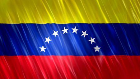 Venezuela Flag with fabric material.