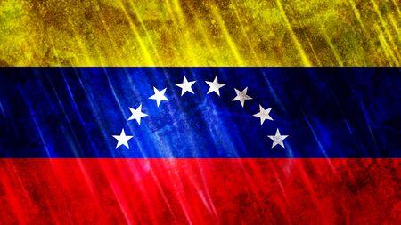 Venezuela Flag with grunge texture.