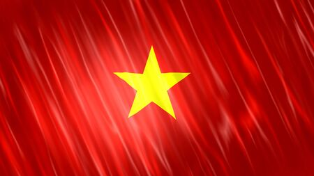 Vietnam Flag with fabric material.