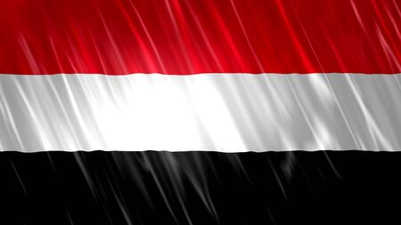Yemen Flag with fabric material.