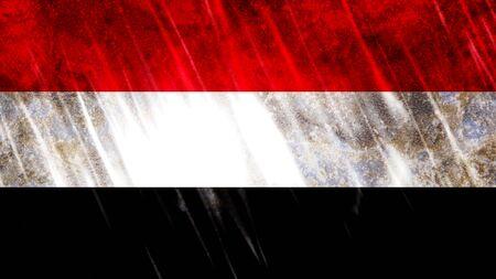 Yemen Flag with grunge texture. Zdjęcie Seryjne