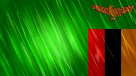 Zambia Flag with fabric material. Zdjęcie Seryjne