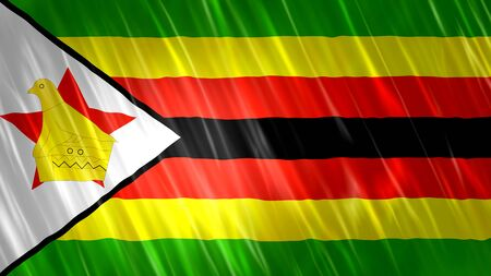 Zimbabwe Flag with fabric material.