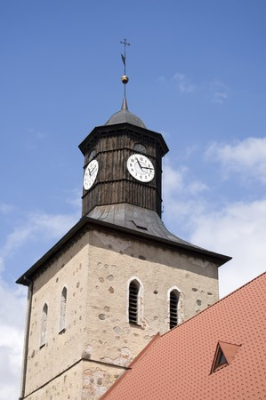 tower clock in Pisz poland