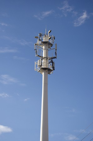 tower with antenns gsm and radio Stock Photo