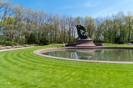 lazienki: Monument of Fryderic Chopin in Lazienki Park  - Warsaw