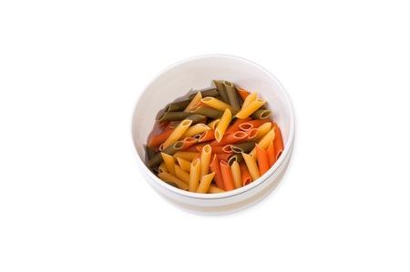 fresh fusilli macaroni on plate Stock Photo - 13731936