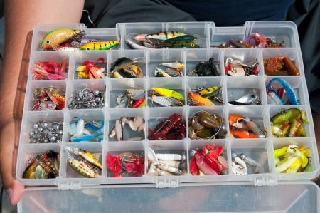 Colourfull box of tile fishing