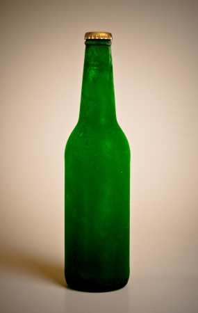 green bottle of cold beer Stock Photo - 14116380
