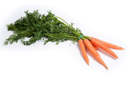 fresh red carrot on white Stock Photo - 14196493
