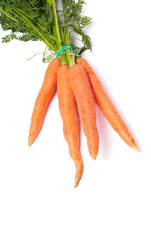 fresh red carrot on white Stock Photo - 14196494